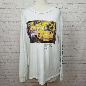 Levi's Mens Bus Graphic Print Long Sleeve Shirt